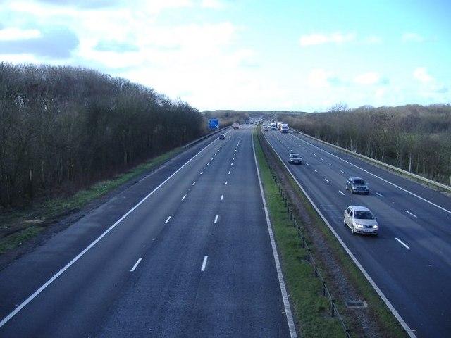 M4 Motorway, looking west