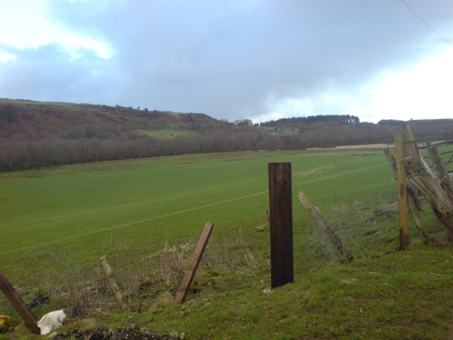 Fields above Glais