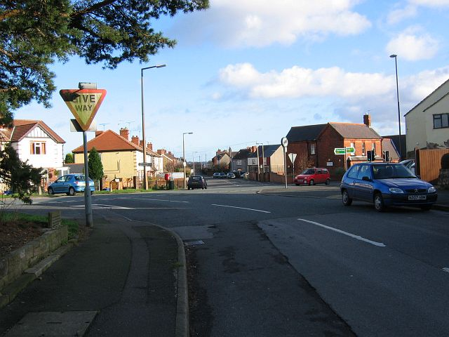 Strettea Lane junction with the A61