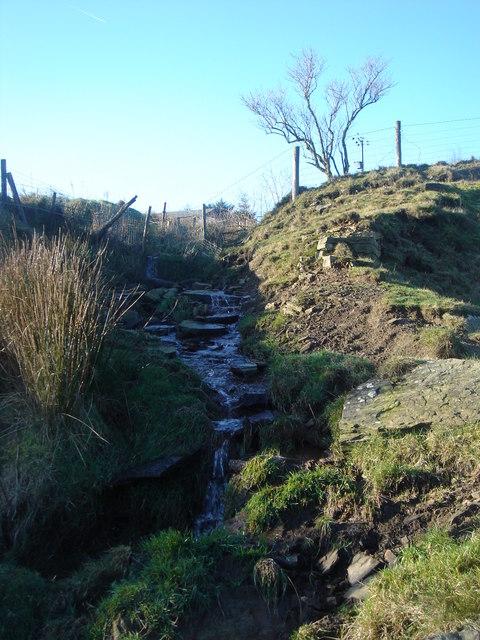 Brook coming from  Darwen Moor