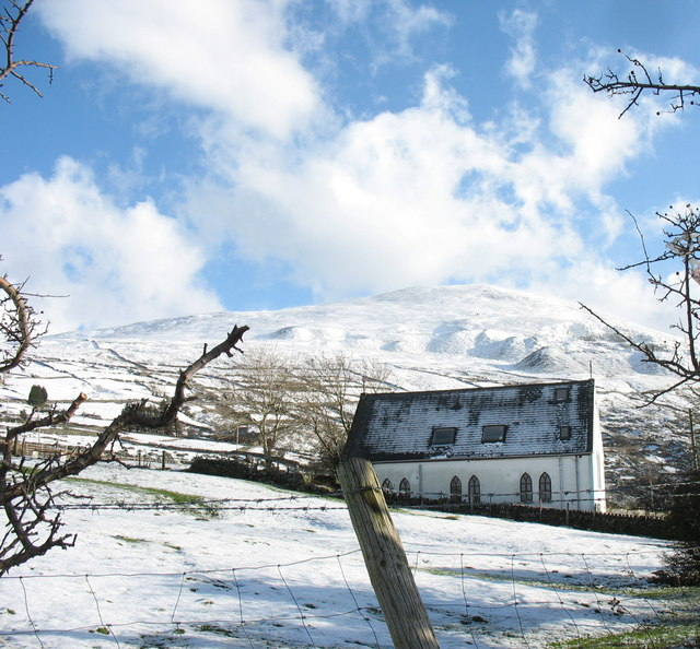 Ffynnon Wen with a dusting of snow