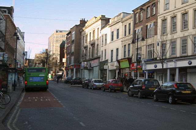 Long Row West (right) and Angel Row (left)