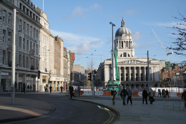 Old Market Square, Nottingham from Long Row West