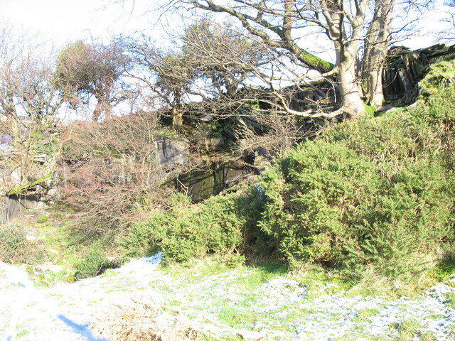An old quarry above Cae-Goronwy