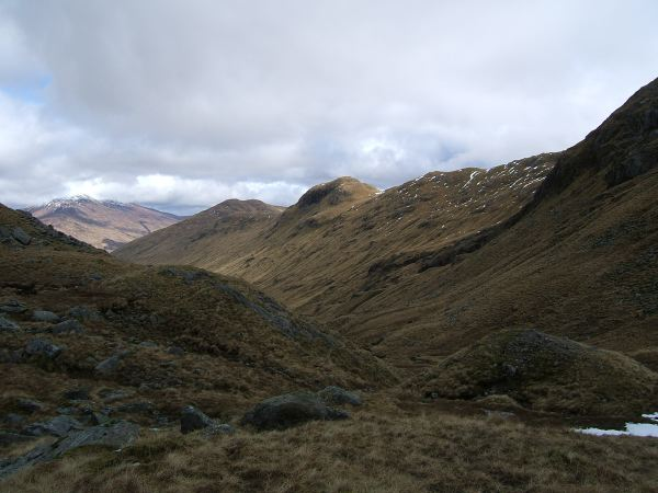Looking down Glen Cuirnean