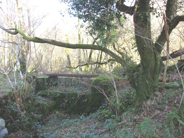 The sluice gate of the old Llyn Pen-yr-allt