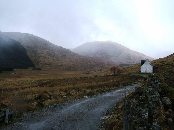 Upper Glen Dessary, the last house in the glen