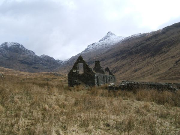 The ruins of Carnach town, after the clearances