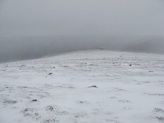 Blowing snow, Creag Mhigeachaidh