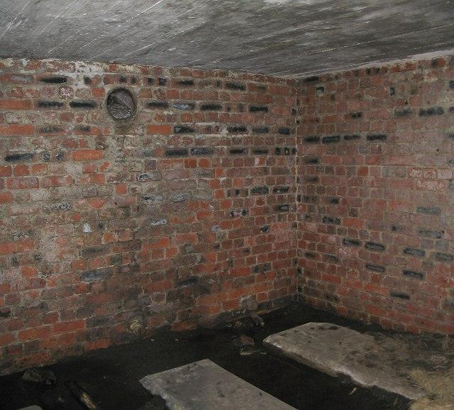 Interior, south chamber, bunker on Mynydd Drumau
