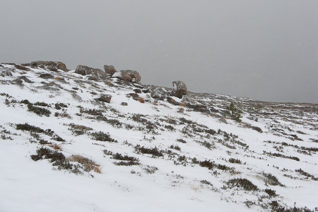 North ridge, Creag Mhigeachaidh