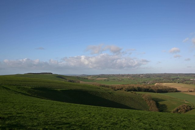 Donhead Hollow from Win Green
