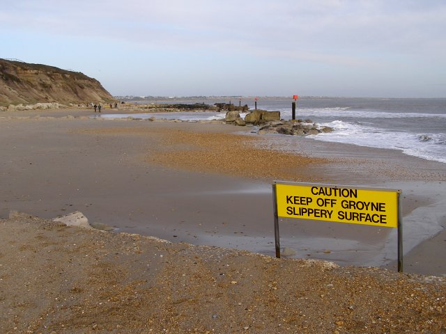 Keep Off Groyne sign, Hengistbury Head