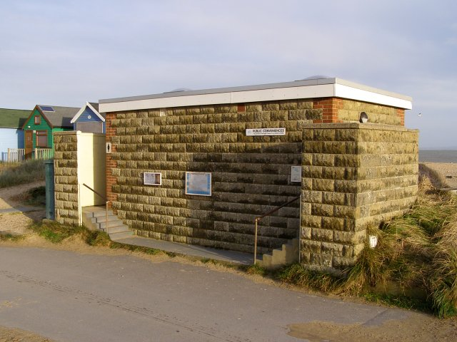 Public conveniences, Mudeford Spit