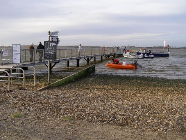 Ferry jetty at Mudeford Spit
