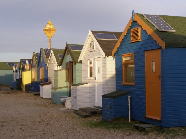 More beach huts on Mudeford Spit