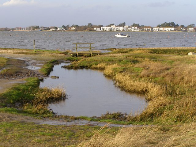 Nature reserve and Christchurch Harbour from Mudeford Spit