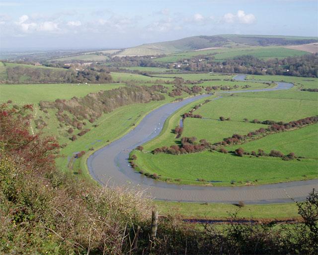 River Cuckmere south of Litlington