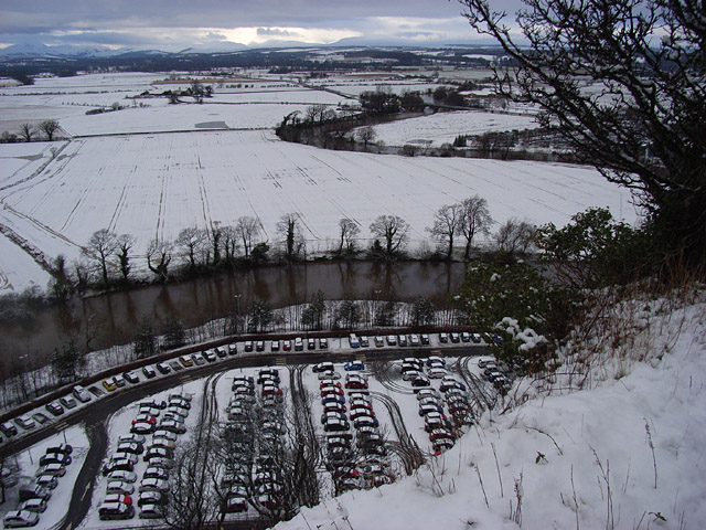 The River Forth and car parking at Craigforth