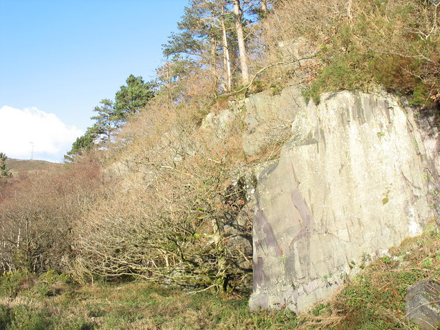 Chwarel Ladas Quarry from the south
