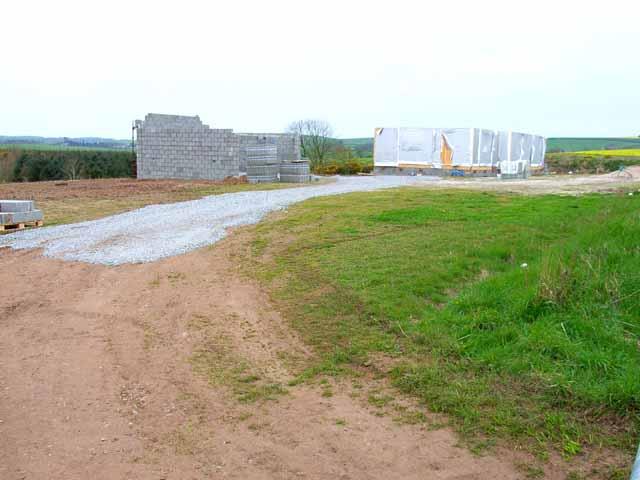 Building site near High Mye