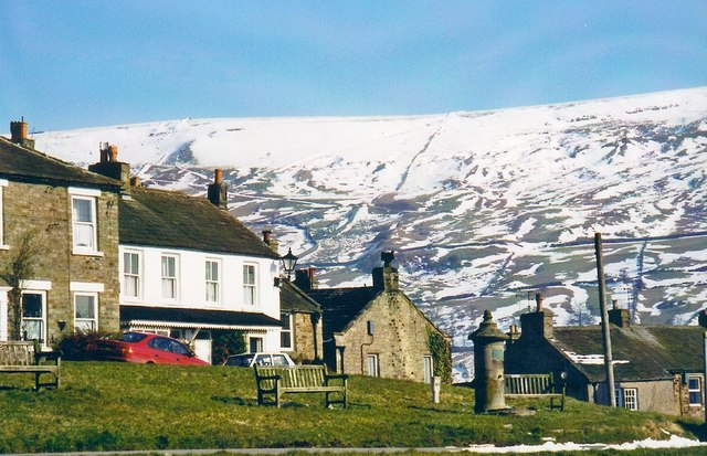 Reeth Green in winter