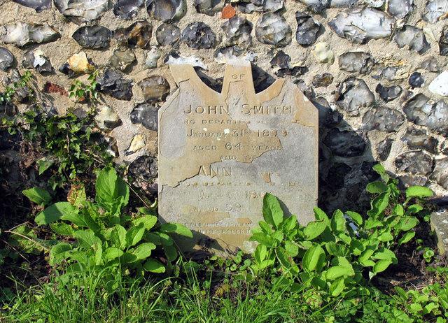 St Michael, Oxnead, Norfolk - Gravestone