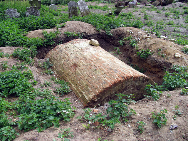 Old Church, Hainford, Norfolk - Vault unearthed