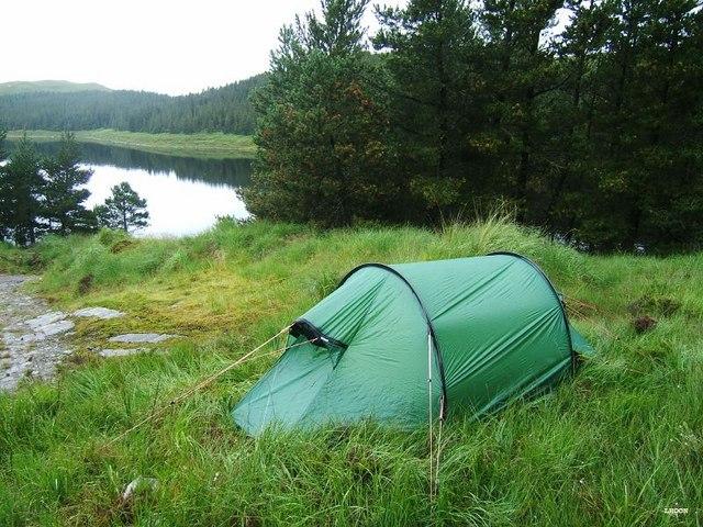 Camping at Loch an Iasaich