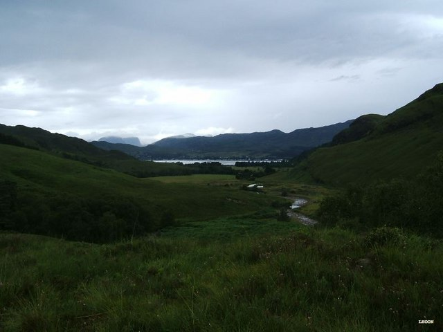 Looking down into Glen Carron