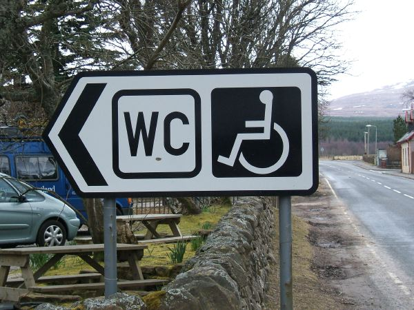 Dalwhinnie, noted for its malt whisky... and its public conveniences!