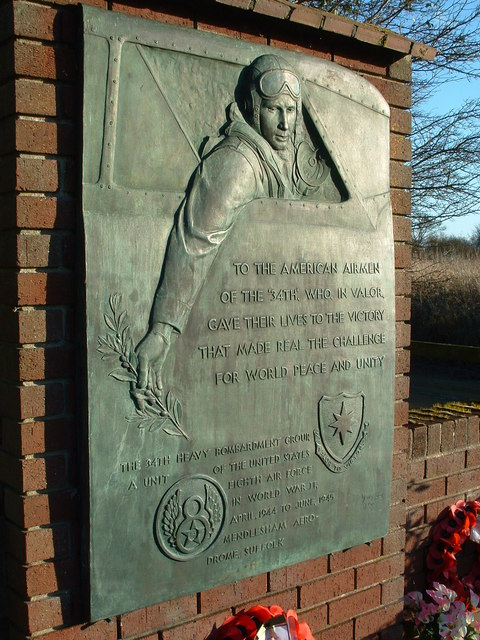 Memorial To The 34th Heavy Bombardment Group (Detail)