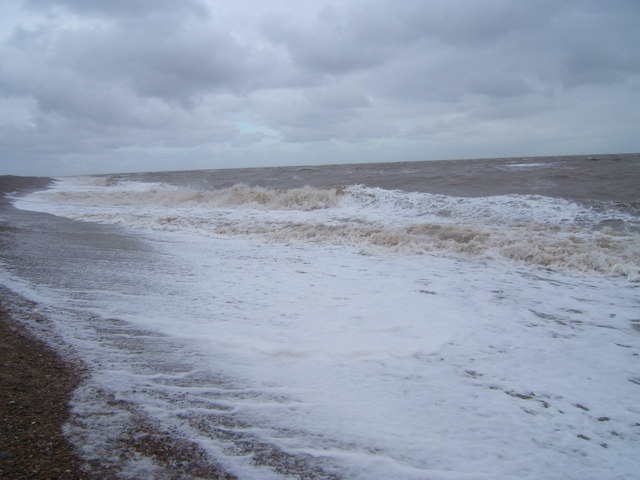 The sea in winter at Thorpeness