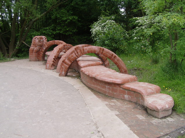 Brick sculpture on the Ripley Greenway