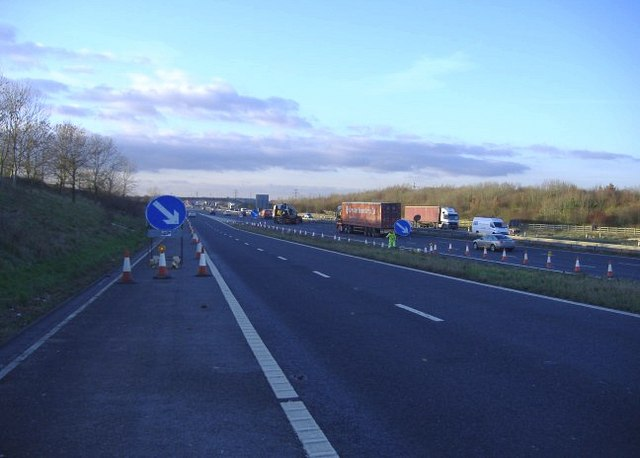 M4 motorway, looking west