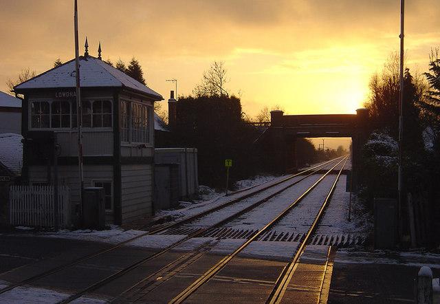Lowdham Crossing at Sunset