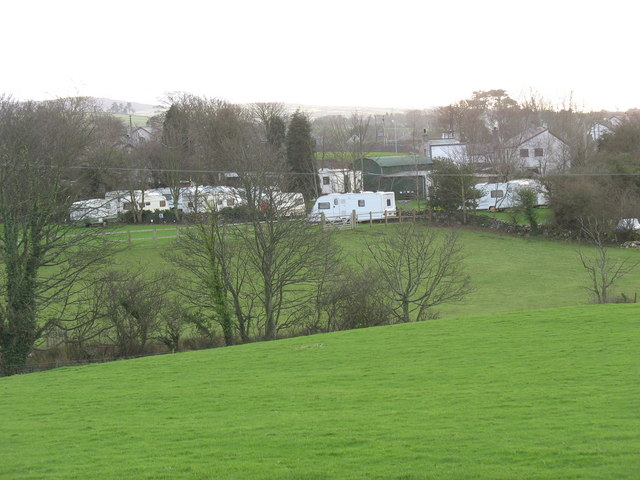 Winter caravan storage at Twll Clawdd Caravan Park