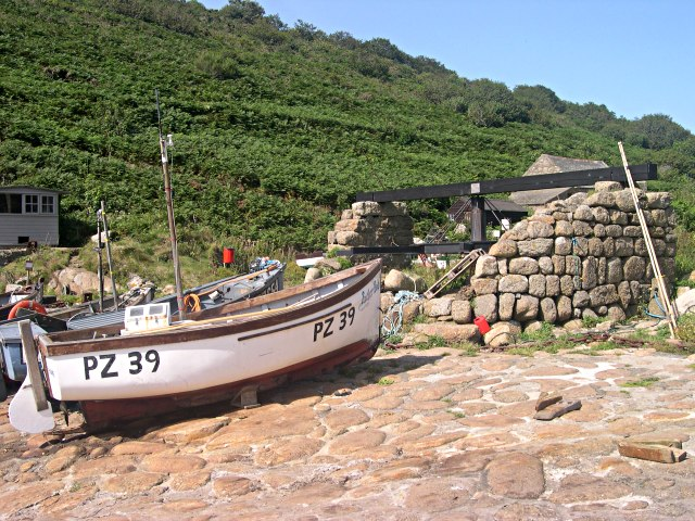 Boats and Capstan at Penberth Cove