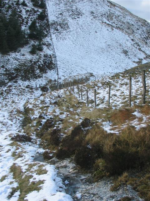 Descent from Cribin Fawr towards Waun-oer