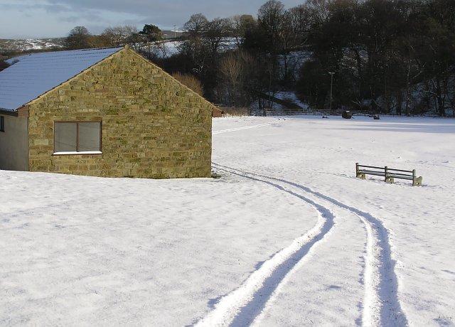 Westerdale Cricket field in January