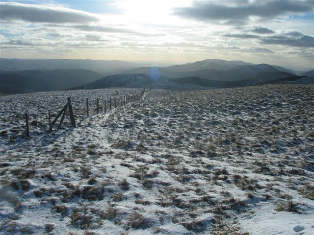 Looking SW from Waun-oer summit