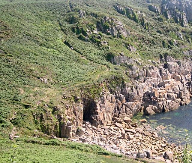 The Coast Path through Porthguarnon