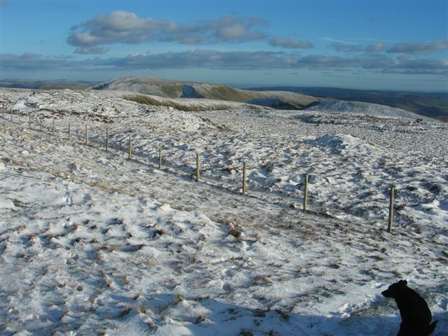 Looking SE from Waun-oer summit