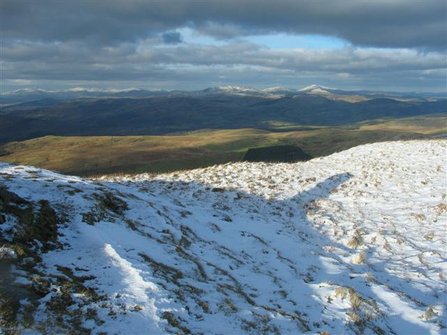 Looking NE from Waun-oer summit
