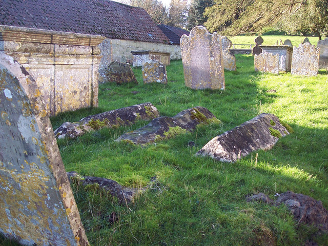 Moss covered graves at All Saints Church