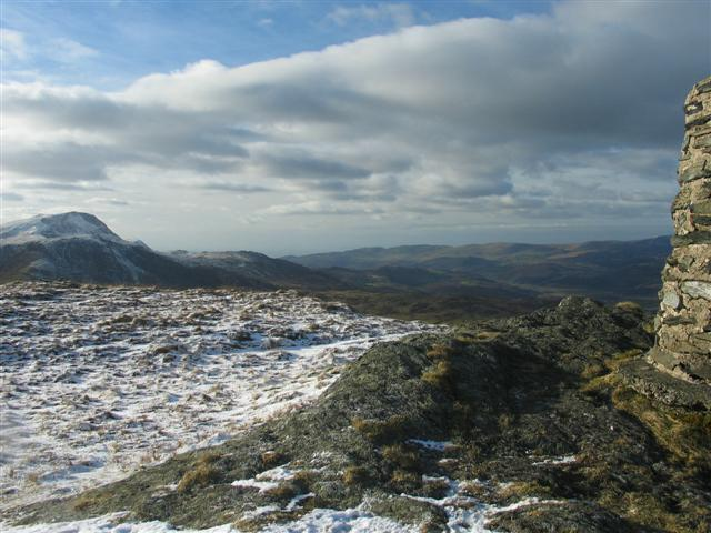 Looking NW from Waun-oer summit