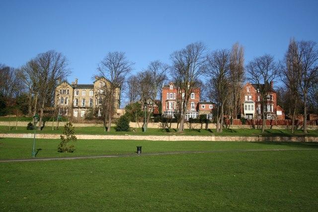 Lindum Terrace from the Arboretum