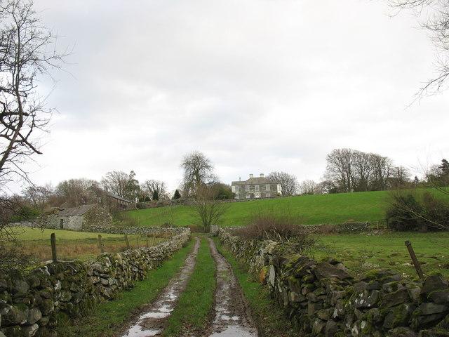Muddy lane north-west of Llwyn y Brain