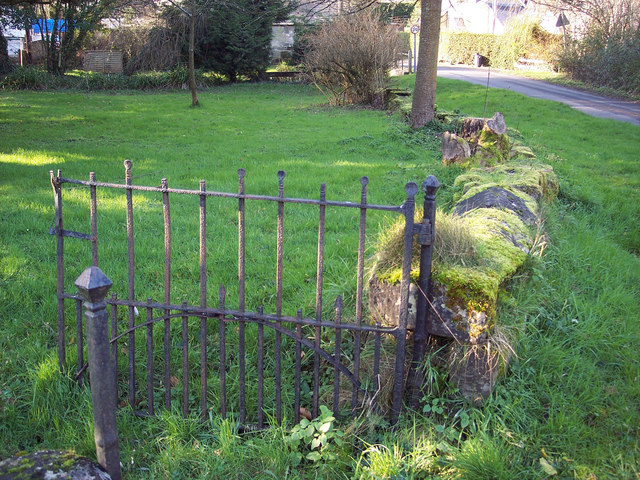 Moss Covered wall and gate, Swallowcliffe