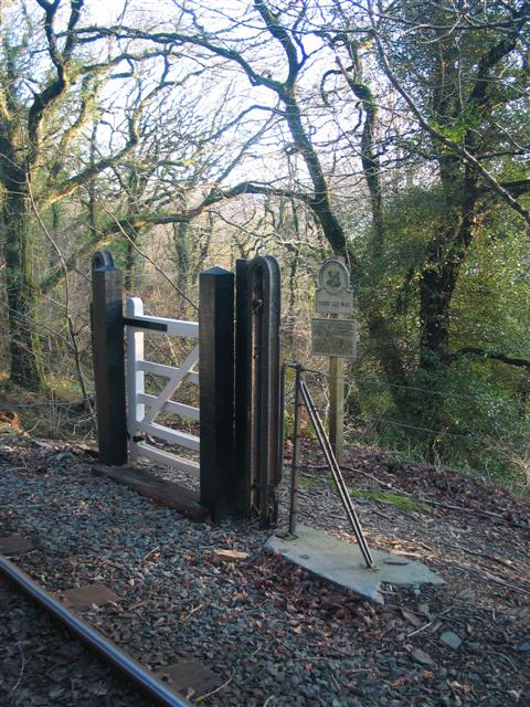 Gate at Ffestiniog Railway Crossing